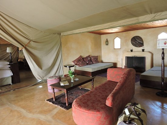 Family Tent Lounge Area between both rooms Picture of Entumoto