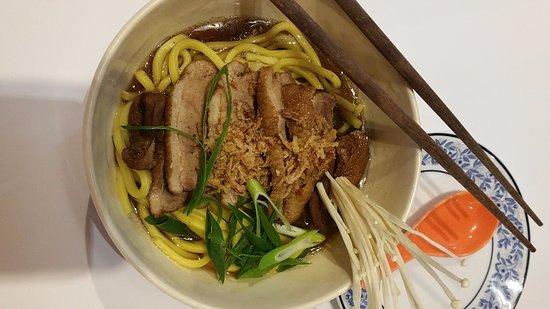 Frankston, Australia: Hokkien noodle soup with duck