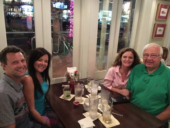 Neptune Beach, FL: Jeffrey & Monica with my husband, Jim and myself!