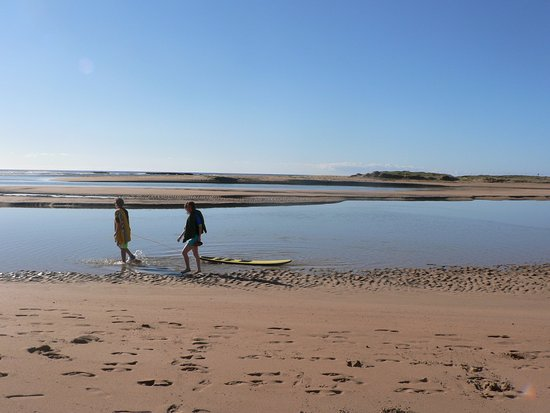 Durras North, Australia: surf boards hired from park shop beach good for all ages