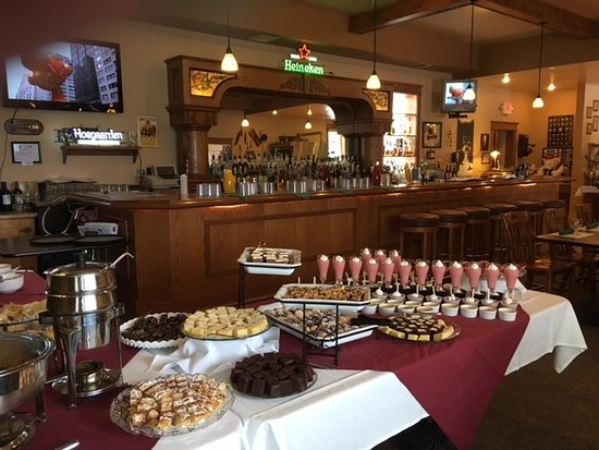 Eagle River, WI: Dessert table at Thanksgiving brunch