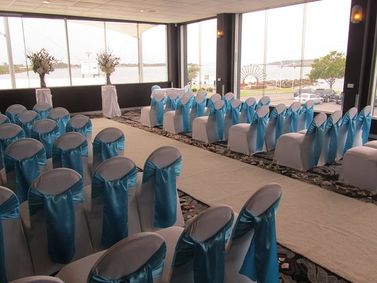 Sensational Ceremony setting with amazing views of Swansea Channel