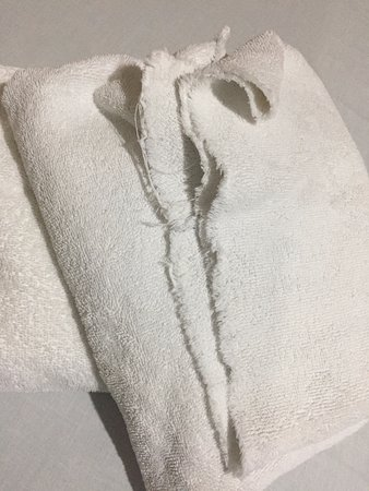 Crown Regency Residences Davao: Worn-out towels