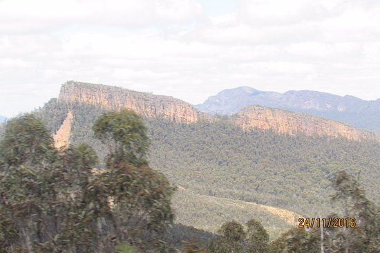 Halls Gap, Australia: The Cathedral from Mt William