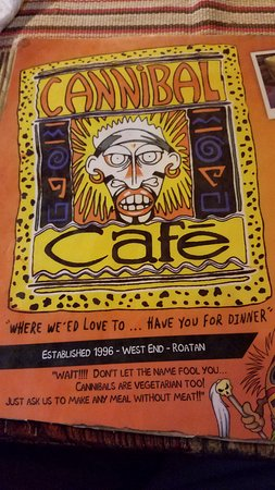 Cannibal Cafe: Part of the menu.