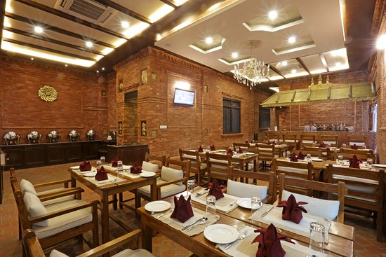 Groovy Restaurant Hall With Buffet Setup And Bar Picture Of The Interior Design Ideas Tzicisoteloinfo