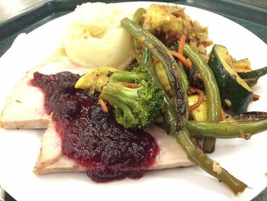 yosemite valley lodge food court thanksgiving day turkey dinner yum