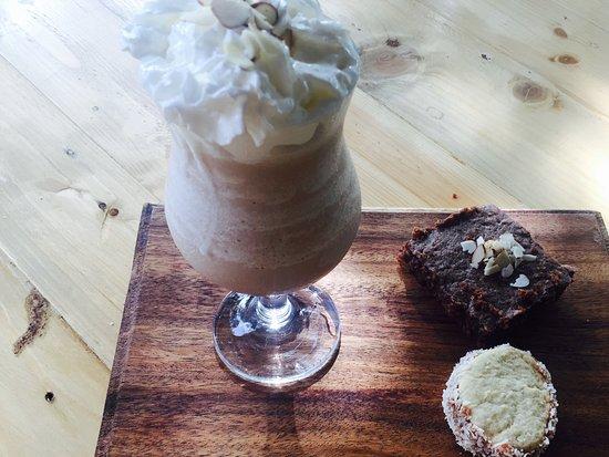 Las Penitas, Nikaragua: Frapuccino y brownie