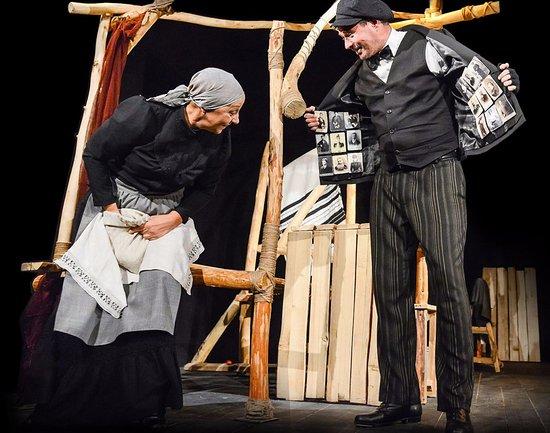 "Comedians State Drama Theater: Сцена из спектакля ""Поминальная молитва"""