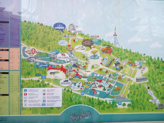 Mtatsminda Amusement Park Map Picture of Mtatsminda Amusement Park