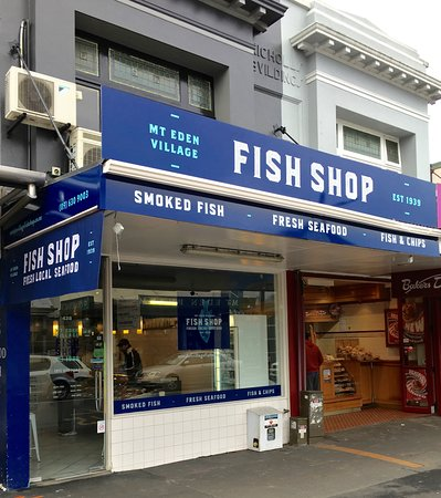Mt. Eden Village Fish Shop: Mt Eden Village Fish Shop -Road Front