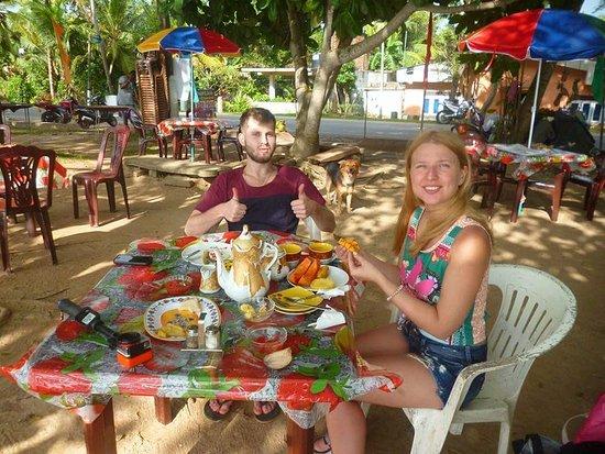 Weligama, Sri Lanka: Brekfast time