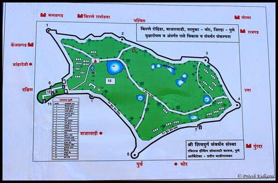 Map of Fort Picture of Rohida Fort Bajarwadi TripAdvisor