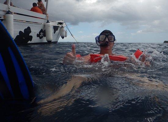 Kralendijk, Bonaire: Daumen hoch nach dem Schnorcheln