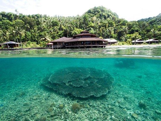 Kungkungan Bay Resort: Over Water Restaurant