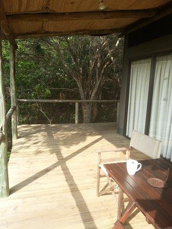 Maputaland Coastal Forest Reserve, Sudáfrica: terrasse de la chambre