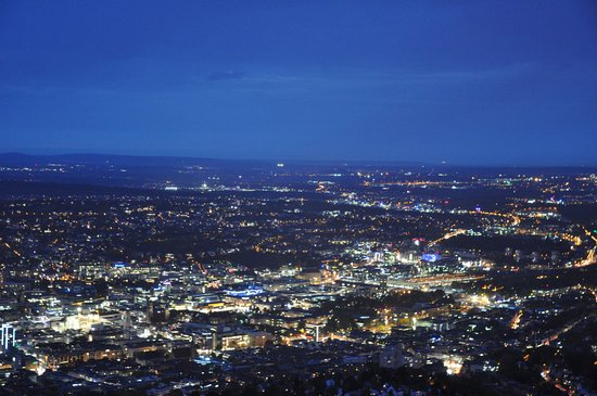 Wellnessoase Stuttgart , Stuttgart At Night From The Television Tower Picture Of Television