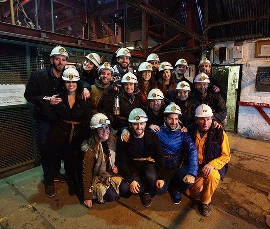 Blaenavon, UK: Before descending 90 metres under ground