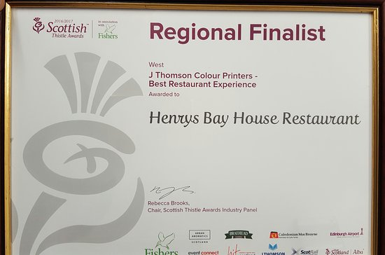 Stranraer, UK: Best restaurant in Dumfries and Galloway life awards