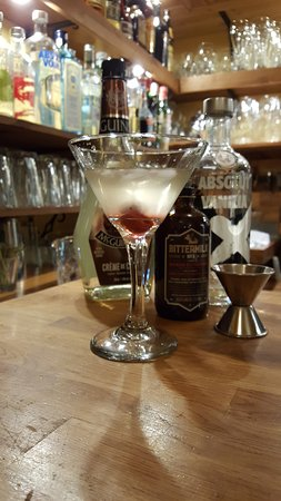 Fernie, Canada: Chocolate cherry martini