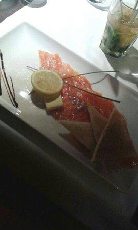 Entrée : Saumon mariné