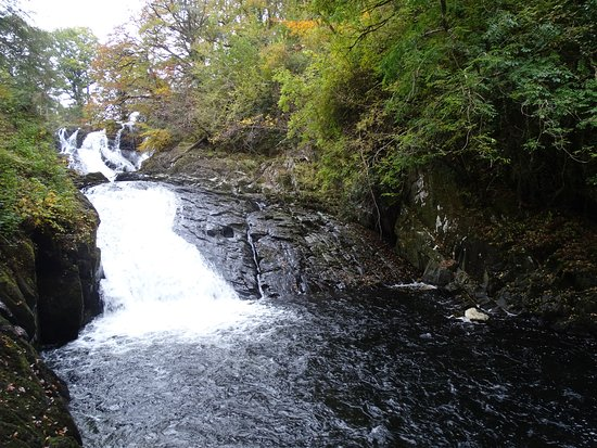 Betws-y-Coed, UK: View upward from the bottom of the steps.