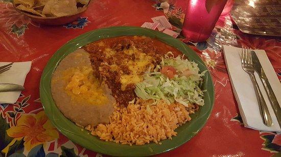 Mesilla, NM: Red Enchiladas