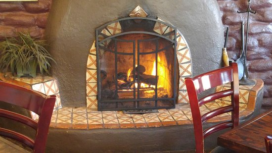 Corrales, NM: fireplace to keep you warm and cozy