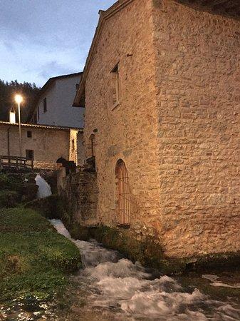 "Wine Link Italy: The ""weavers"" village of Rasiglia at dusk."