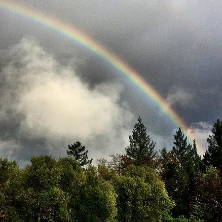 Napa Valley, Kalifornia: A beautiful rainbow