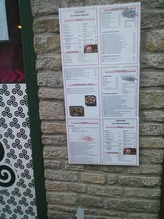 Sarzeau, France: menu B comme Breizh
