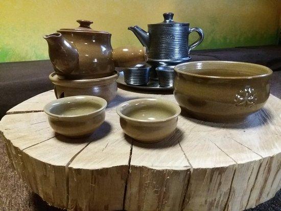 Piestany, Slovakia: tea sets - pottery by Antonin Mostek