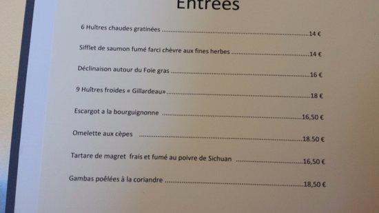 Le Coudray Montceaux, Γαλλία: Carte des entrées.