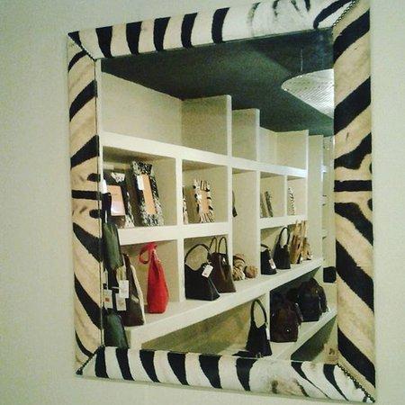 Exotic Africa Curio Shop, Perry's Bridge, Hazyview. Zebra Skin Mirror. Shopping