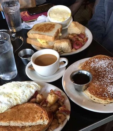 Athens, GA: The pancakes with real maple syrup are perfection.