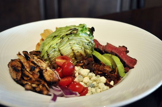 Elkhart, IN: Grilled Wedge Salad, with Amish chicken breast and steak