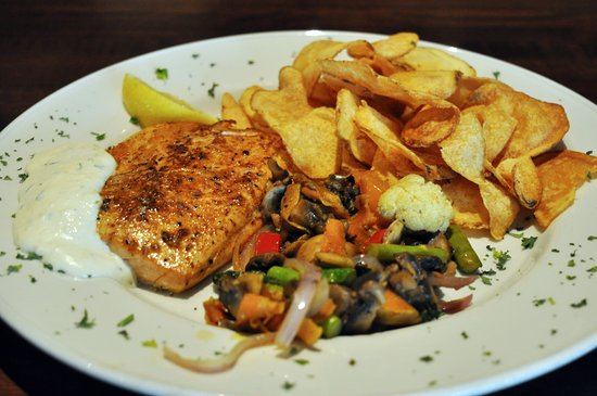 Elkhart, IN: sugar-smoked, wild-caught, salmon with horseradish sauce