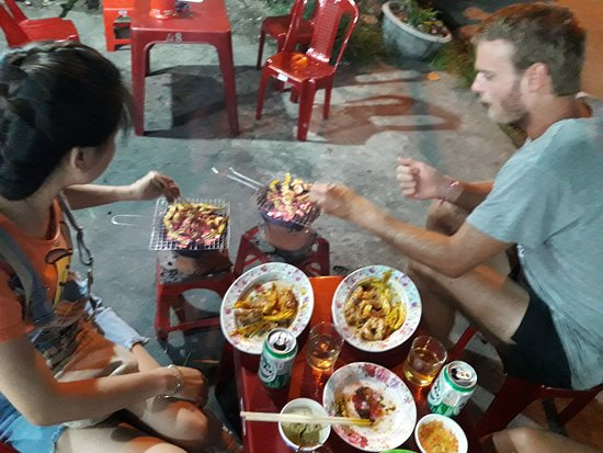 hue cooking class bbq street food tour fun and full
