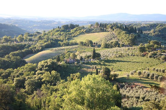 view standing on the balcony - picture of hotel bel soggiorno, san ... - Hotel Bel Soggiorno San Gimignano Tripadvisor