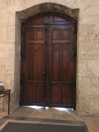 Church Of Saint Anne: Old Door Inside The Church.