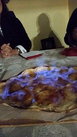 Golfe-Juan Vallauris, Francia: Flam en dessert
