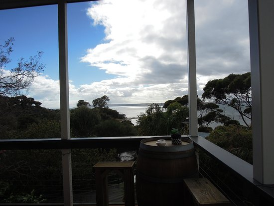 American River, Australia: vue de la salle à manger et reception par la meme occasion
