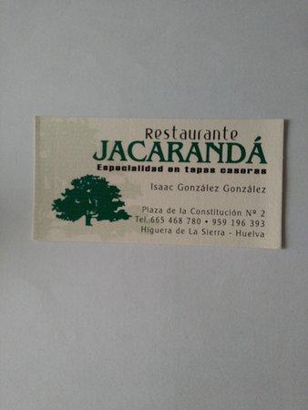 Higuera de la Sierra, Spanien: Es Jacarnadá