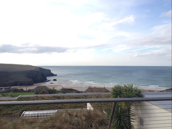 Mawgan Porth, UK: View from one of the lounges