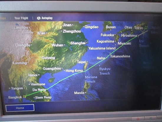 Destination map Picture of Japan Airlines JAL World TripAdvisor