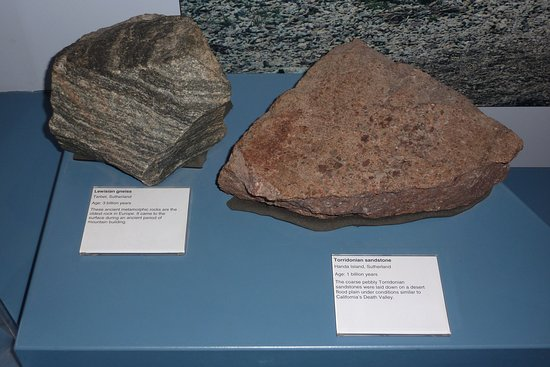 Inverness Museum and Art Gallery: ancient rock samples