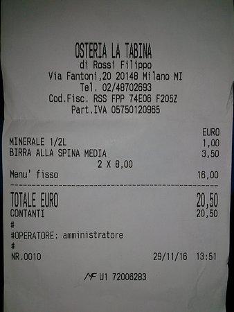 Osteria la Tabina: Buono ed economico.