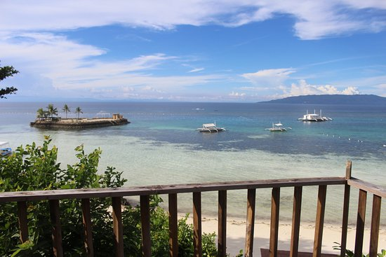 Dauis, Philippines: Panglao Island Nature Resort, Bohol - View from Phase I Seaview Bungalows balcony.