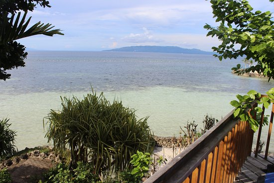 Dauis, Philippines: Panglao Island Natural Resort, Bohol - View from deck of the seaview bungalow.