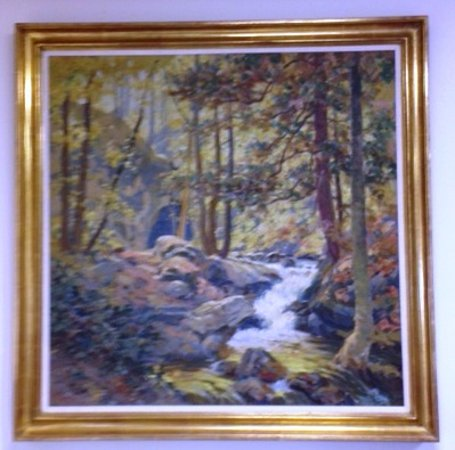Dover Plains, Estado de Nueva York: WPA painting by Anthony Powell in Town Hall
